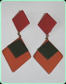 Art Deco Vogue clip on drop earrings